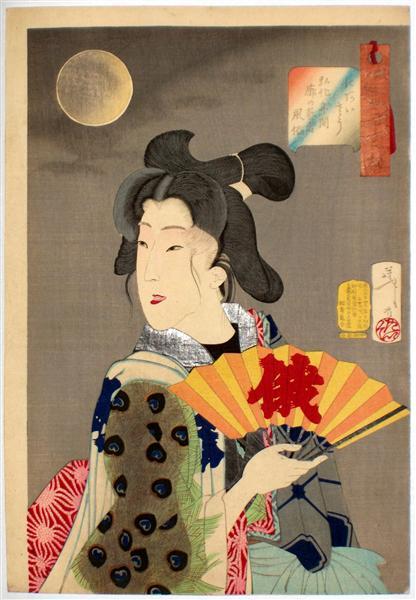 Looking suitable - The Appearance of a Brothel Geisha of the Koka Era - Tsukioka Yoshitoshi