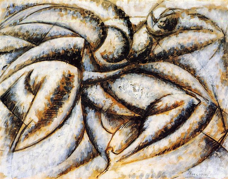 Dynamism of the Human Body, c.1913 - Umberto Boccioni