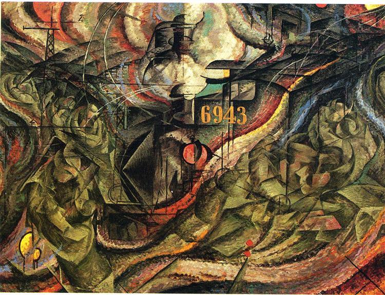 States of Mind I: The Farewells - Umberto Boccioni