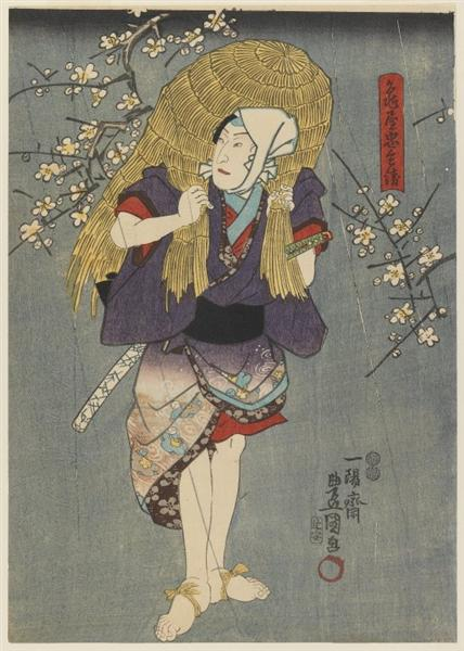 The Actor Playing a Farmer - Utagawa Kunisada