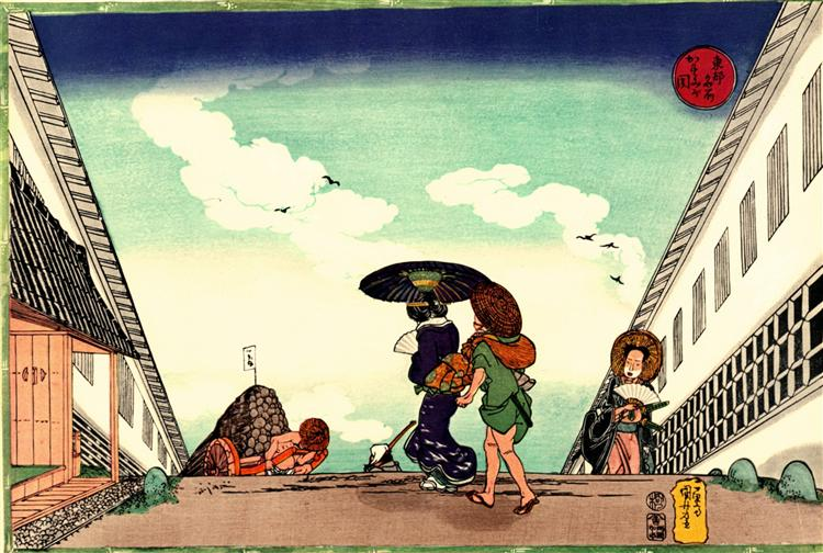 High Noon at Kasumigaseki, 1830 - Utagawa Kuniyoshi