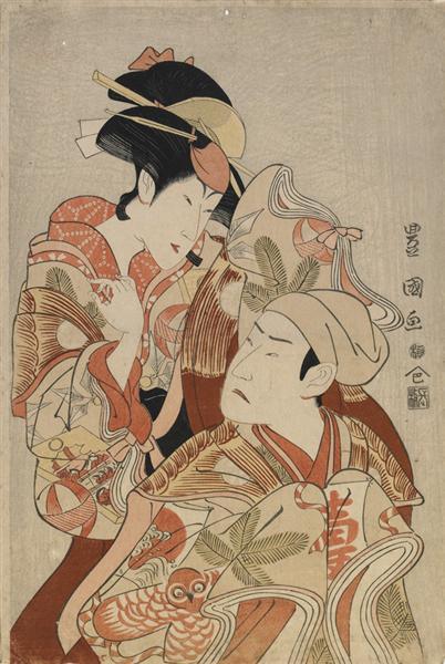 The actors Matsumoto Yonesaburô I and Nakamura Denkurô IV, 1798 - Utagawa Toyokuni