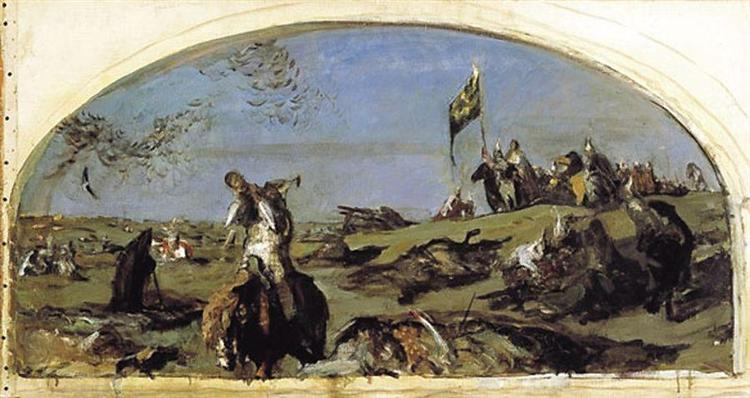 After the Battle of Kulikovo - Valentin Serov