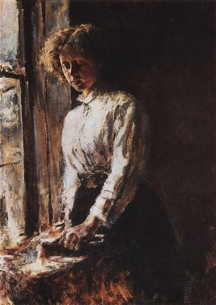 By the Window. Portrait of Olga Trubnikova, 1886 - Valentin Serov