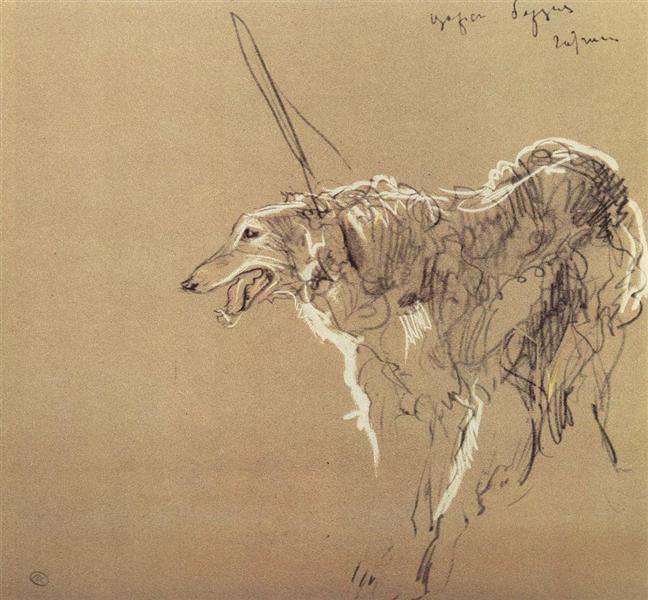Greyhound royal hunting, 1902 - Valentin Serov