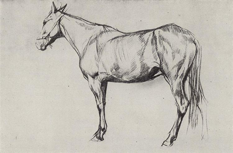 Horse, 1884 - Valentin Serov