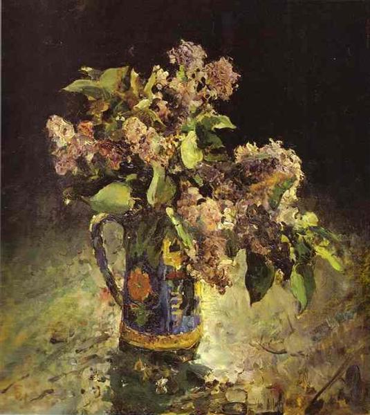 Lilacs in Vase, 1887 - Valentin Serov
