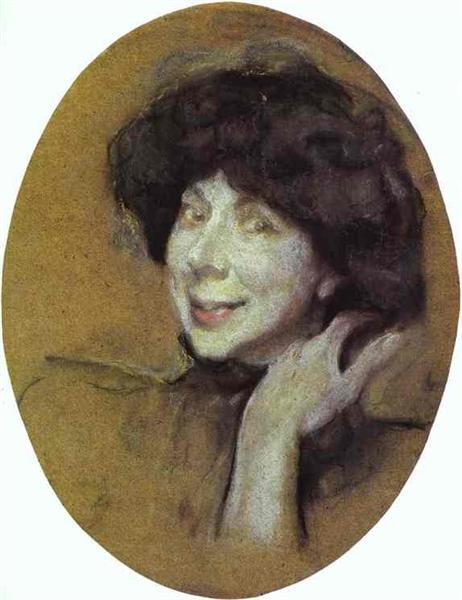 Portrait of Anna Benois, 1908 - Valentin Serov