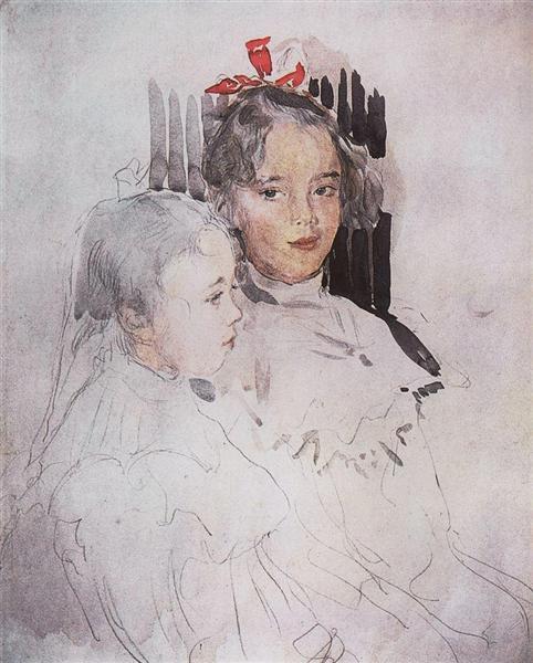 Portrait of Children of S. Botkin, 1900 - Valentin Serov