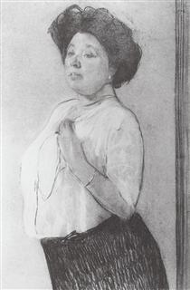 Portrait of N.P. Lamanova - Valentin Serov