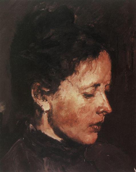 Portrait of Olga Serova, 1889 - 1890 - Valentin Serov