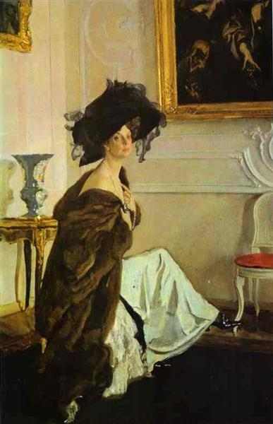 Portrait of Princess Olga Orlova - Valentin Serov