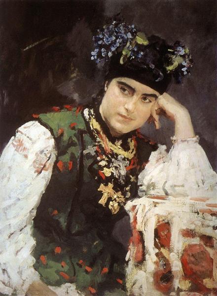 Portrait of Sophia Dragomirova-Lukomskaya, 1889 - Valentin Serov