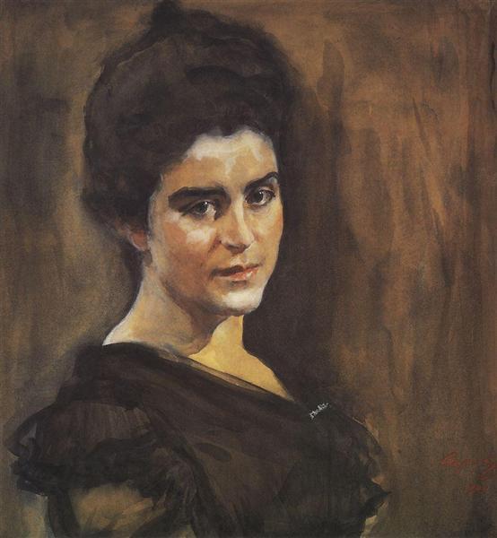 Portrait of Sophia Dragomirova-Lukomskaya, 1900 - Valentin Serov
