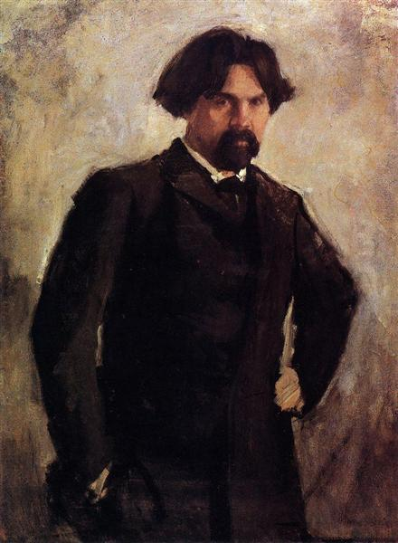 Portrait of the Artist Vasily Surikov - Valentin Serov