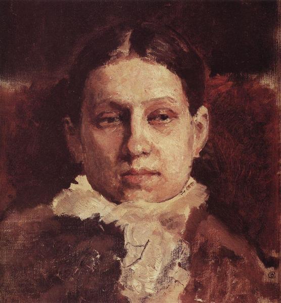 Portrait of Vera Repina, 1881 - Valentin Serov