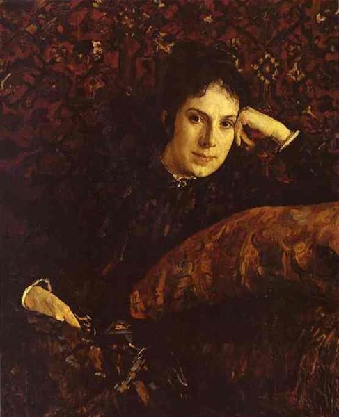 Portrait of Yekaterina Chokolova, 1887 - Valentin Serov