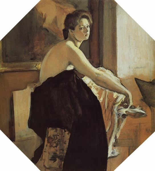Portrait of Yelena Oliv, 1905 - Valentin Serov
