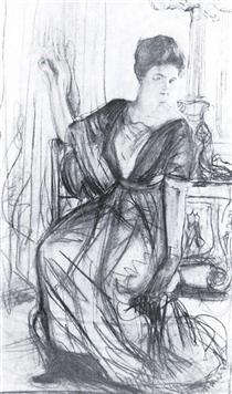 Sketch for a portrait of P.I. Scherbatova - Valentin Serov