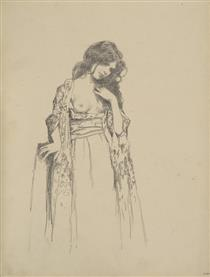 Sketch of a girl - Vardges Sureniants