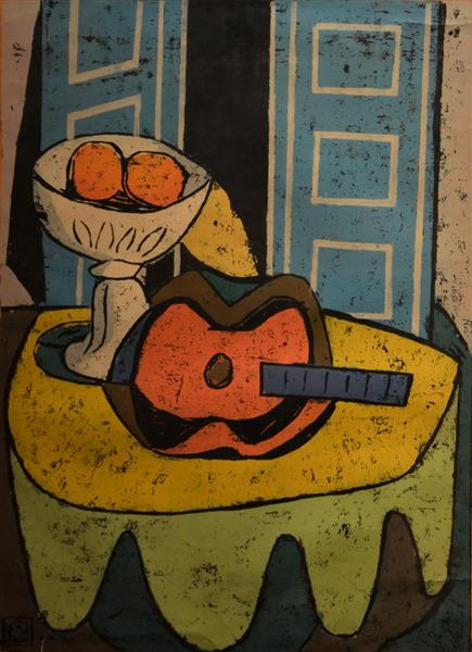 Composition With Guitar, 1961 - Vasile Dobrian