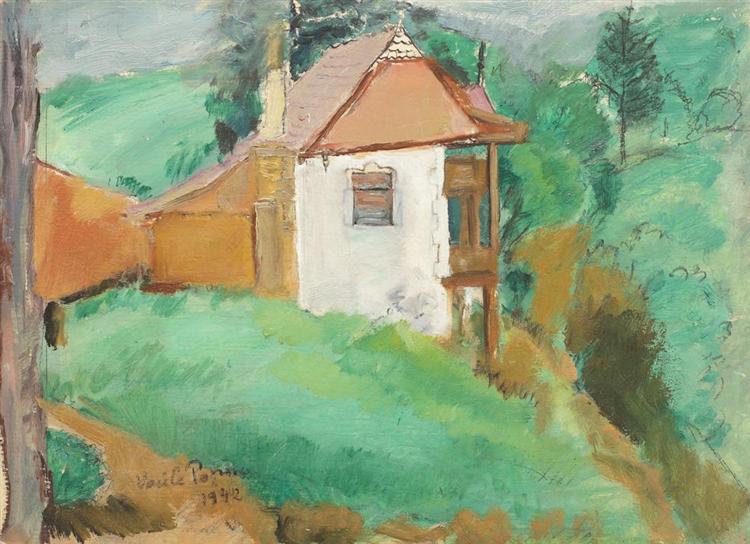 Little House in Predeal, 1942 - Vasile Popescu
