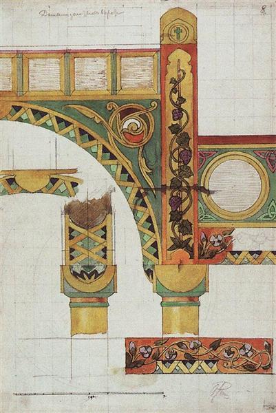 Details of golden gates, 1893 - Vassili Polenov