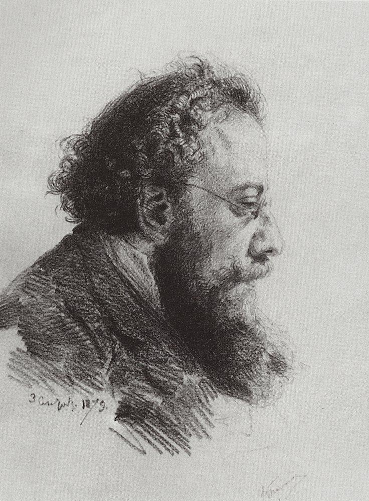 Vasily Polenov Portrait-of-a-v-prahov-art-historian-and-art-critic-1879