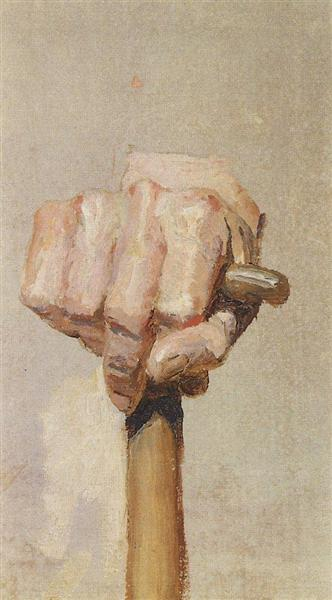 Right hand, keeping the staff, c.1885 - Vasily Polenov