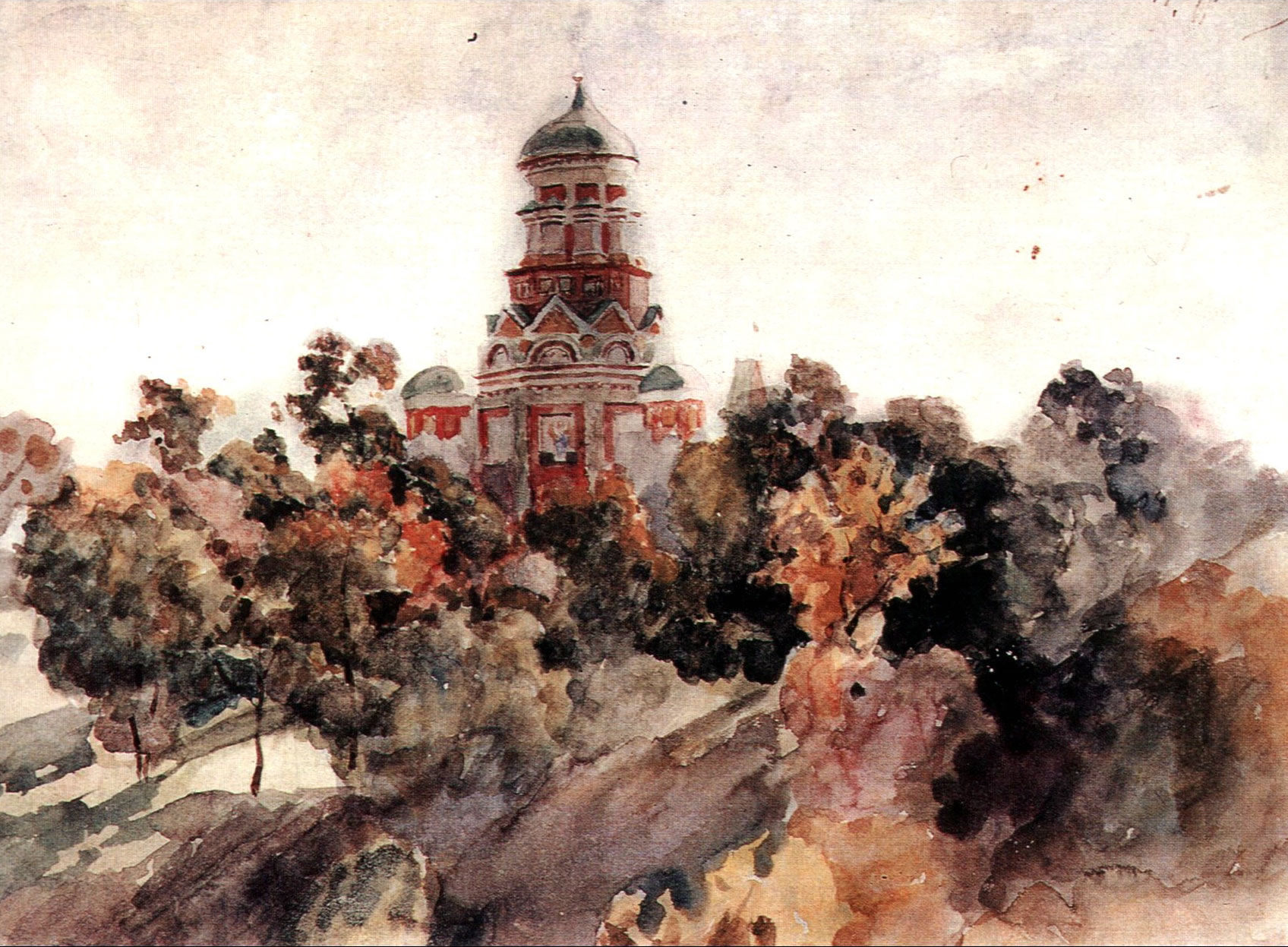 Vasily Surikov Church-in-the-village-dyakovo