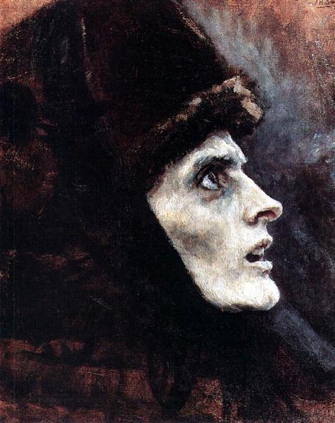 Head of Boyarynya Morozova (study), 1886 - Vasily Surikov