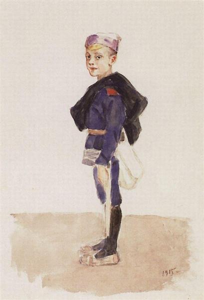 Portrait of M. P. Konchalovsky in childhood, 1915 - Vasily Surikov