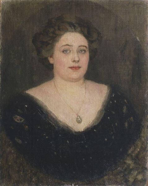 Portrait of M. Velichkina, nee Baroness von Klodt Yurgensburg, 1914 - Vasily Surikov