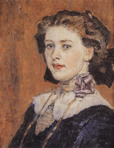 Portrait of young woman, 1911 - Vasily Surikov