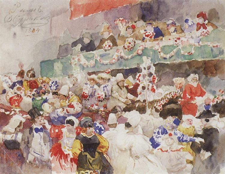 Roman Carnival, 1884 - Василь Суриков