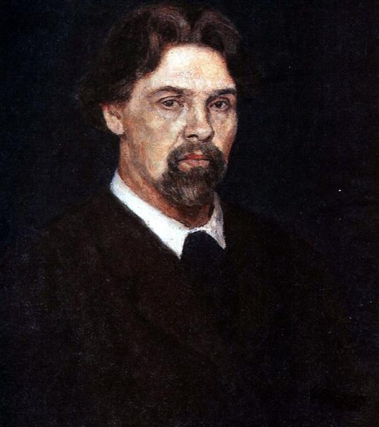 Self-Portrait (Man with hurt hand), 1913 - Vasily Surikov