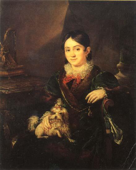 Obolenskaya NA, 1833 - Vasily Tropinin