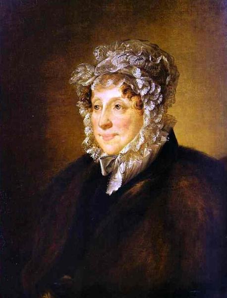 Portrait of an elderly woman in a bonnet, 1820 - Vasily Tropinin