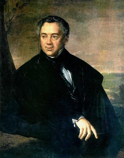 Portrait of an unknown, 1823 - Vasily Tropinin