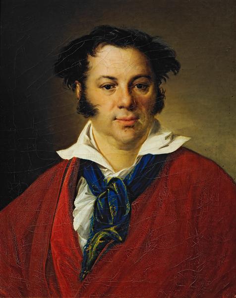 Portrait of K.G.Ravich, 1823 - Vasily Tropinin