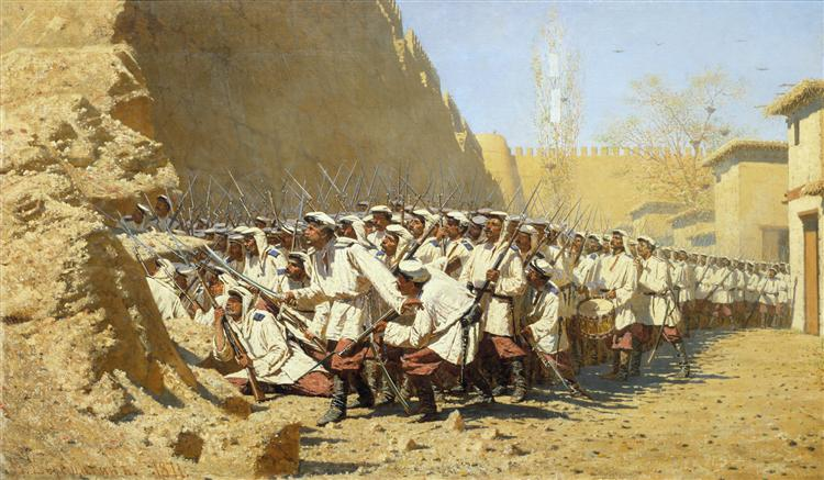 At the Fortress Walls. Let them Enter - Vasily Vereshchagin