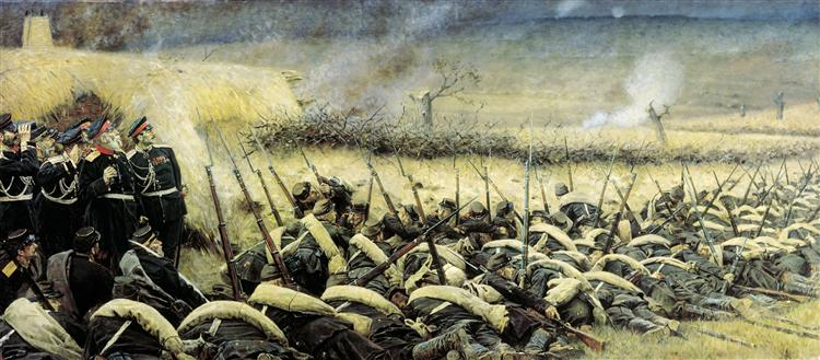 Before the attack. At Plevna - Vasily Vereshchagin