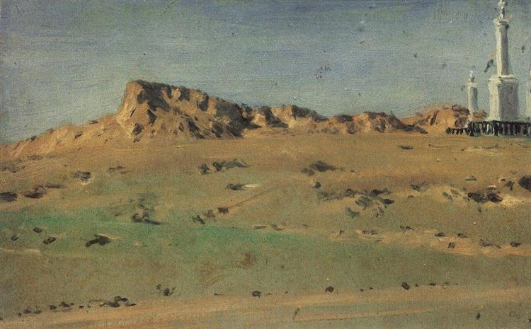 Corner of the Turkish Redoubt Captured on May 30 but Abandoned on May 31, 1877 - Vasily Vereshchagin