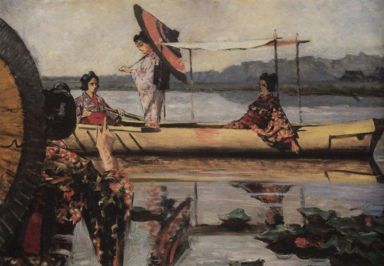 In a Boat, 1903 - 1904 - Василий Верещагин