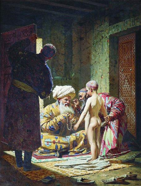 The Sale of the Child Slave, 1872 - Vasily Vereshchagin