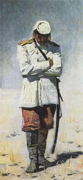 Turkestan officer, when there will no campaign, 1873 - Vasily Vereshchagin