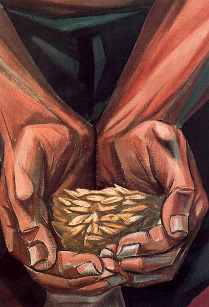 Mural of Human Rights. The Seeds that Give the Fruit (Detail), 1953 - Vela Zanetti