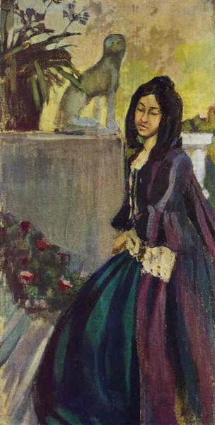 In the Park, c.1902 - Victor Borisov-Musatov