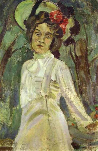 Portrait of Nadezhda Staniukovich, 1903 - Victor Borisov-Musatov