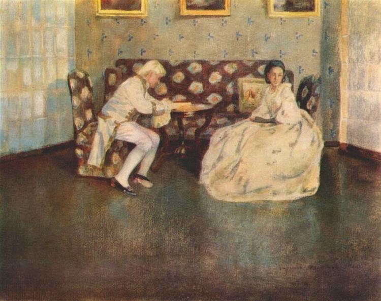 Silence (Indoors), 1900 - Victor Borisov-Musatov